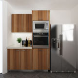 Oppeinのプロジェクトの低価格のメラミンオリーブ色の木製の穀物の台所家具(OP14-M08)