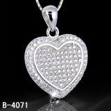 Pendente di figura del cuore dell'argento sterlina del regalo 925 dell'amante (B-3843, B-4071, B-3123, B-3675BW, B-4113)