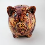 Banco consideravelmente Piggy cerâmico do decalque azul o mais atrasado da novidade do porco