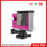 2.0-Inch Waterproof Sport Camera com chipset 1080P 60 Frames 170&deg de Sunplus; Ângulo largo