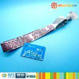 Wristband pré-imprimido evento da tela do bracelete RFID de Ntag213 NFC