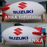 PVC gonfiabile del grande elio popolare che fa pubblicità al dirigibile blu
