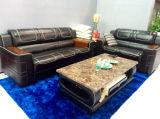 Sofá casero del cuero de los muebles con el sofá del cuero genuino