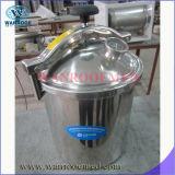 Stérilisateur à vapeur à pression portable chauffante à gaz ou à gaz à vide