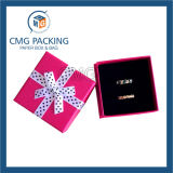 Roter Farbband-Schmucksache-Kasten mit Schwamm-Einlage (CMG-PJB-131)