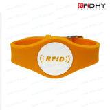 Vigilanza estremamente comoda registrabile dei Wristbands del silicone di RFID per le mostre