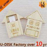 折る小屋木製USBの昇進のギフト(YT-8134L1)