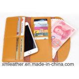 Портмоне кожи бумажника женщин типа желтого цвета просто