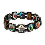 De Armband van de Rozentuin van het hematiet met het Beeld van Heilige