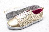 2016 ботинок женщин золотистых желтых вулканизированных (RF16161)