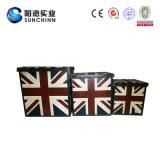 イギリスフラグの帆布覆いの装飾の箱(SCOT00080)