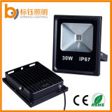 Wasserdichte IP67 CRI>85 PF>0.9 Flut-Lampe der dünnen 30W LED des Flutlicht-85-265V ultradünnen hellen Garten-Scheinwerfer-im Freienbeleuchtung-