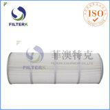 Filterk a plissé les cartouches filtrantes réutilisables de collecteur de poussière