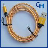 Teléfono móvil cable de USB Accesorios Fabricante de suministro de datos de cables de nylon trenzado Micro