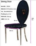 Schwarze Gewebe-Edelstahl-Füße Stuhl für Haus (B8048) speisend