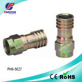 Rg59 RG6 Crimp CATV Connector per Caoxial Cable (pH3-1057)