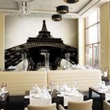 Mural hermoso del papel pintado de la etiqueta engomada y de la pared de los fondos para el restaurante del abrigo del vinilo