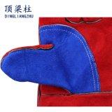 14 '' Kuh-aufgeteiltes Leder-Schweißens-Arbeits-Handschuhe mit verstärkter Palme