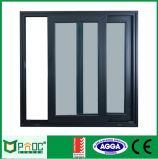 schiebendes Fenster der Aluminiumlegierung-6063-T5 mit bereiftem Glas
