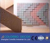 Panneau acoustique de mur de nature et de copeaux de bois de plafond