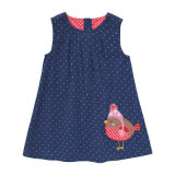 Vestito dalla ragazza del capretto dei bambini del vestito dal velluto a coste delle ragazze del bambino del bambino per l'autunno della molla