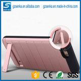 Предусматрива OEM коробки случая телефона Гуанчжоу золотистая с стойкой для LG V10
