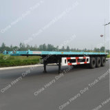 Semi-Trailer Flatbed do transporte de recipiente de 3axle 50ton com alta qualidade