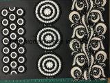 Double garniture Ym-8 de lacet de polyester de qualité de couleur