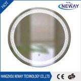 Concurrerende Lichte Zilveren Ronde LEIDENE Van uitstekende kwaliteit Decoratieve Spiegel
