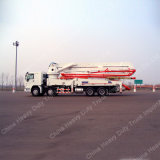트럭에 의하여 거치되는 구체 펌프 믹서 구체 펌프 트럭