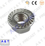 Écrou en caoutchouc hexagonal DIN6923 en acier inoxydable avec haute qualité