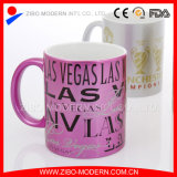 Steingut Spraying Ceramic Mug mit Coating und Print Decal