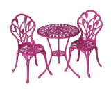 Etat-freundliches Garten-Patio-Möbel-gesetztes Aluminiumpuder-überzogener Tisch und Stühle
