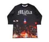 Maglietta calda di stile di Hip Hop di vendita con il disegno personalizzato (R011)