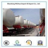 Transport de ciment en vrac en aluminium à 40 cbm 3 essieux Semi-remorque de fret