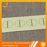 Ярлык одежды изготовленный на заказ печатание прозрачный