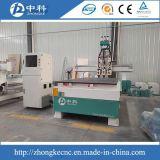 Selbsthilfsmittel, das CNC-Fräser mit drei Köpfen pneumatisch ändert