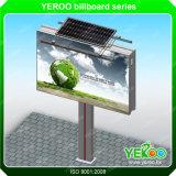 Lumières avant extérieures d'énergie solaire annonçant le panneau-réclame