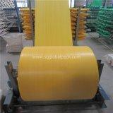 Tissu tubulaire tissé par polypropylène jaune en gros