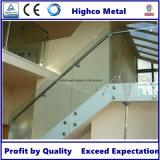 balustrade d'acier inoxydable d'impasse de support en verre de 50mm