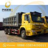 HOWO usado transporta o caminhão de descarga 6X4 do Tipper de 10 rodas com boas condições para África