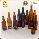 Bier-Fertigkeit-Glasflasche des Hauptbrew-16oz mit Schwingen-Schutzkappe (553)