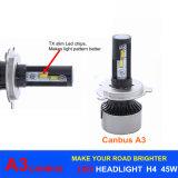 Фара H1 H3 H7 H11 H13 9005 автомобиля СИД светильника 45W 6000lm A3 H4 Canbus СИД автоматическая 9006 H16 6000k