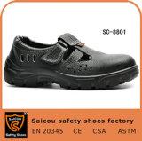 Schoenen van de Teen van het Staal van Saicou de Goedkope Dubbele Pu Modieuze Toevallige voor Mensen Sc-8801