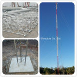 Гальванизированная поверхностью стальная башня Guyed антенны рангоута