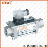 Válvula de canela do aço inoxidável do solenóide de Esg
