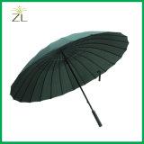 고품질 튼튼한 폴리에스테 물자 우산 자동적인 똑바로 16의 위원회 우산