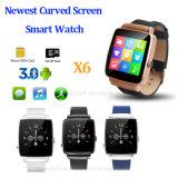 Téléphone intelligent à la mode de montre de Bluetooth avec la carte SIM (X6)