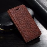 ソニーXperia Xzのための帯出登録者が付いている製造業者の卸売フリップ札入れの革携帯電話の箱