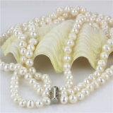 Snh 8-9mm una joyería simple collar de perlas
